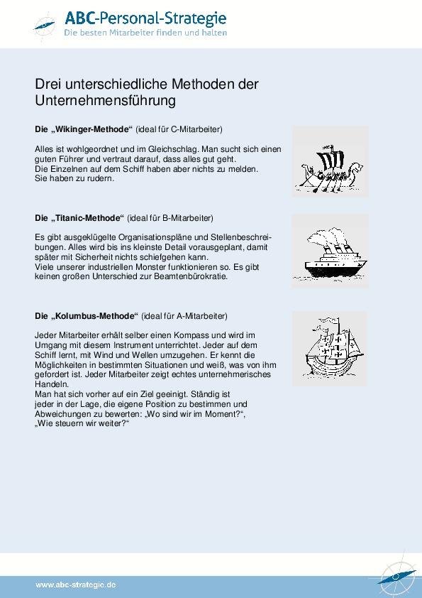 Unternehmensführung - drei unterschiedliche Methoden-thumbnail