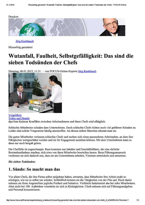01 Misserfolg garantiert- Wutanfall, Faulh...ben Todsünden der Chefs - FOCUS Online-thumbnail