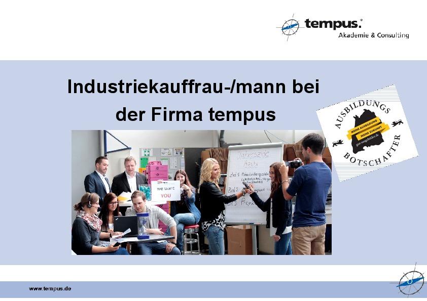 Ausbildung bei der Firma tempus - Azubibotschafter-thumbnail